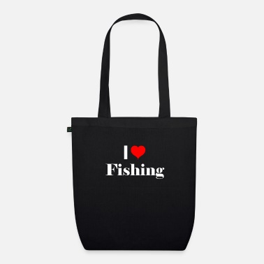 Sport Fishermen I love fishing - gift idea for sport fishermen - Organic Tote Bag