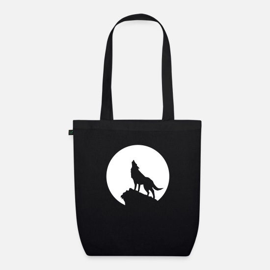 Husky Bags & Backpacks - wolf - Organic Tote Bag black