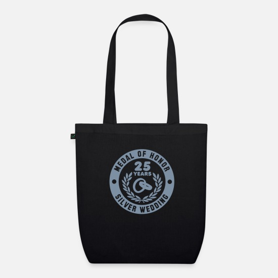 Medal Bags & Backpacks - MEDAL OF HONOR 25th SILVER WEDDING - Organic Tote Bag black
