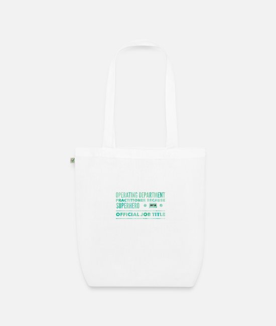 Operating Department Practice Bags & Backpacks - Superhero - Organic Tote Bag white