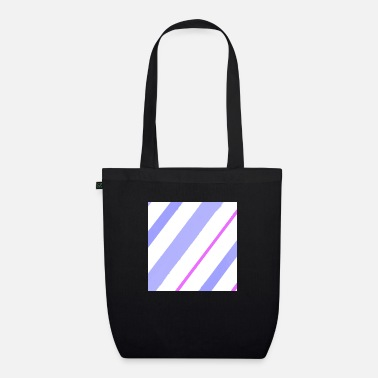 Blue White Blue-white-purple lines - Organic Tote Bag