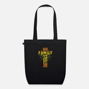 God Pro Us Flag Father s Day gift God Family Steelers - Organic Tote Bag