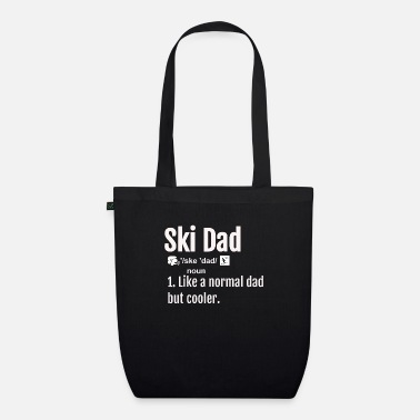 Ski Dad Definition T shirt Funny Sports Tee Skiing - Organic Tote Bag