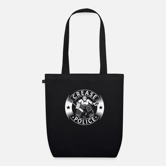 Goalkeeper Bags & Backpacks - Crease Police Hockey Goalie - Organic Tote Bag black