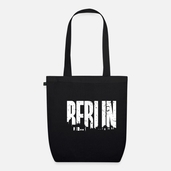 Capital Bags & Backpacks - Skyline Berlin - Organic Tote Bag black