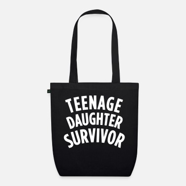 Teenager TEENAGE DAUGHTER SURVIVOR Manches longues - Sac en tissu bio