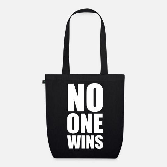 Funny Bags & Backpacks - no one wins - Organic Tote Bag black
