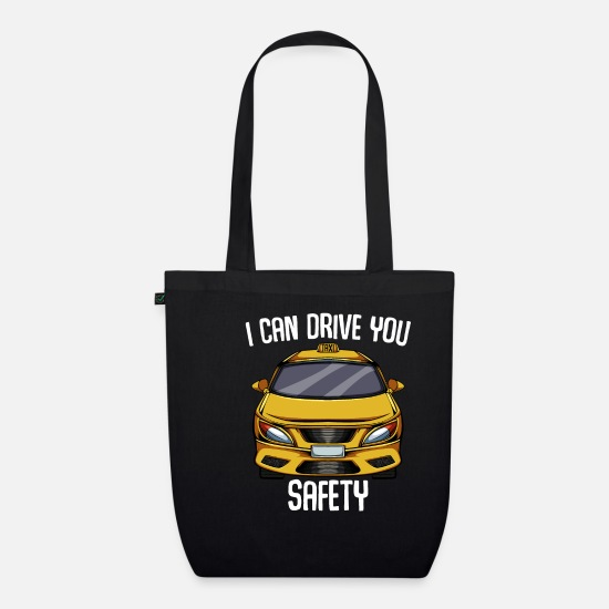 Taxi Driver Bags & Backpacks - taxi - Organic Tote Bag black
