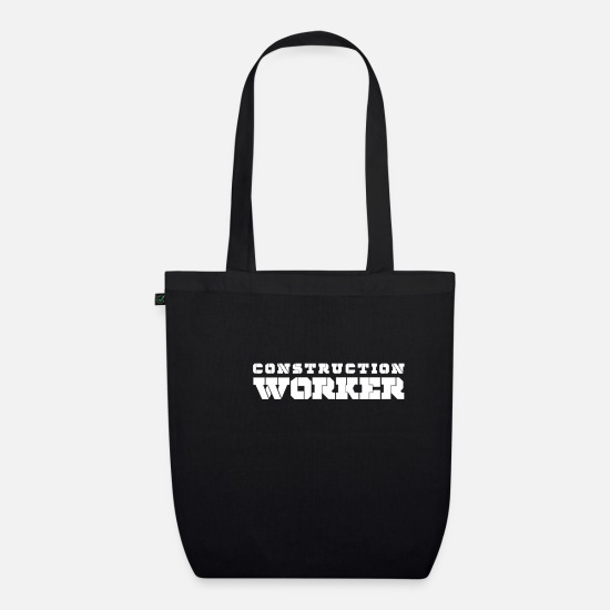 Gift Idea Bags & Backpacks - Construction worker construction site builder construction scaffolder - Organic Tote Bag black