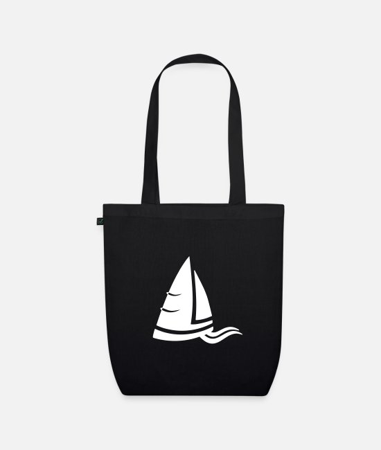 Water Bags & Backpacks - Sea air sailboat logo white - Organic Tote Bag black