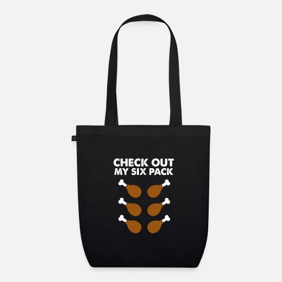 Muscular Bags & Backpacks - Thanksgiving six pack - Organic Tote Bag black