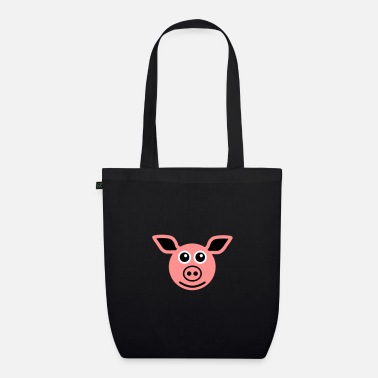 Frischling ★ design colors changeable ★ face pig - Organic Tote Bag