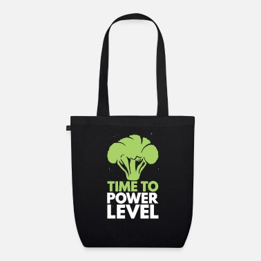 Nuclear Power Time To Power Level Broccoli Vegetarian - Organic Tote Bag