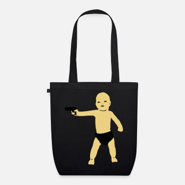 Provocative baby gun - Organic Tote Bag