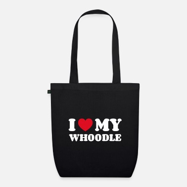 Dog Lover I love my whoodle - Organic Tote Bag