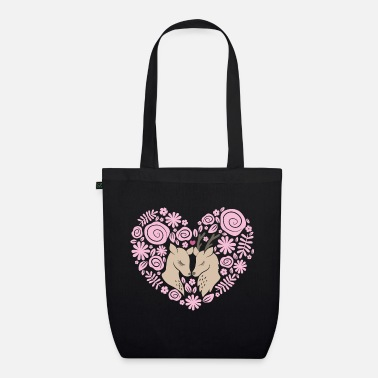 Love Collection V2 Deer love - Borsa di stoffa ecologica