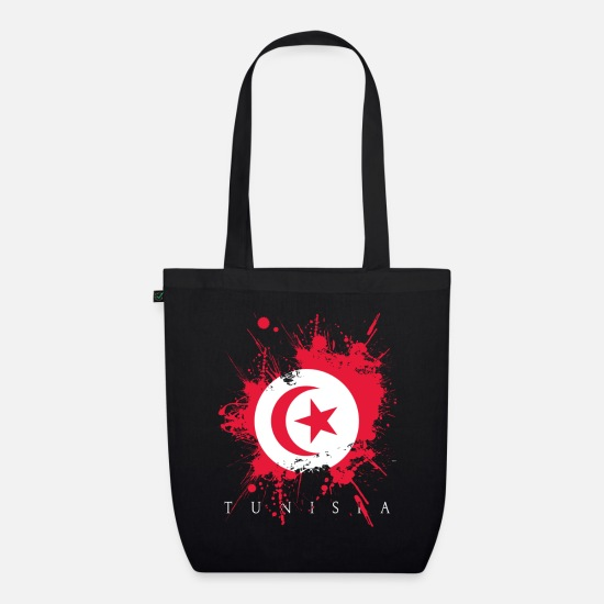 Gift Idea Bags & Backpacks - Tunisia Tunisia Africa Tunis flag flag country - Organic Tote Bag black
