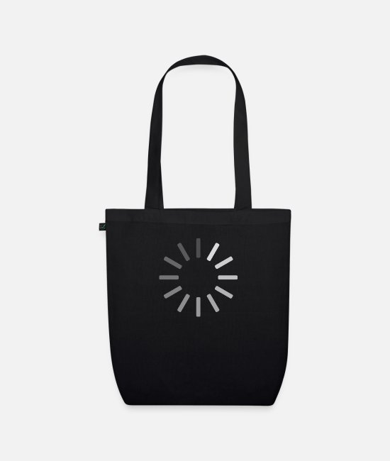 Video Buffer Bags & Backpacks - Buffering icon - Organic Tote Bag black