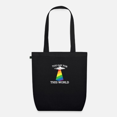 Wedding Too gay for this world - gay lesbian - Organic Tote Bag