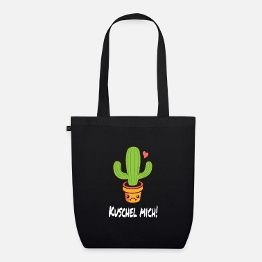 Thorny Gift idea with cactus that wants to be cuddled - Organic Tote Bag