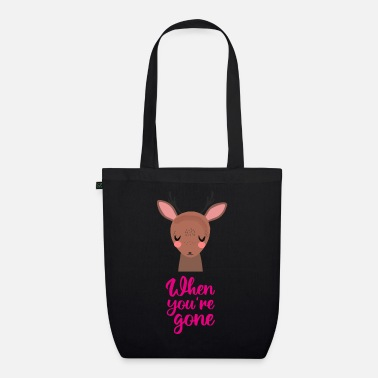 Lonely Baby love child sad saying deer heart - Organic Tote Bag