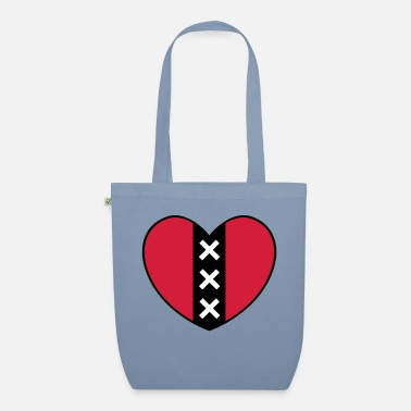 Pink Heart with the symbol of the city of Amsterdam - Organic Tote Bag