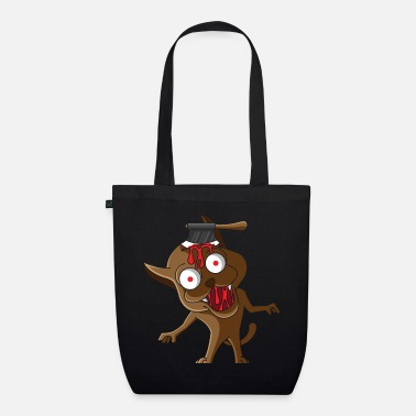 Brutal Horror dog, brutal blood halloween horror - Organic Tote Bag