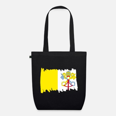 Mask Vatican National Flag - brush vertical - Organic Tote Bag