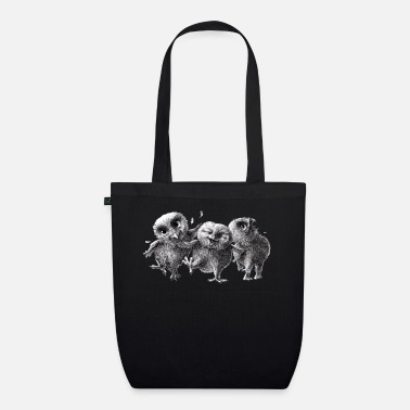 three crazy owls - Organic Tote Bag