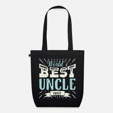 Onkel Mens Cool Uncle Gift T Shirt World's Best Uncle - Bio Stoffbeutel