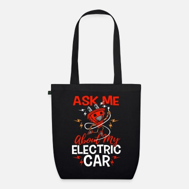 Download Ask me about my electric car gift electric car - Organic Tote Bag