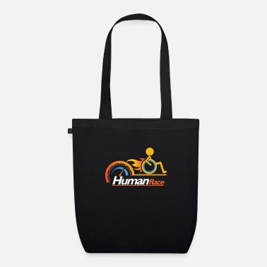 Disabled Awesome Handicapped Disability Disabled Human Race - Organic Tote Bag