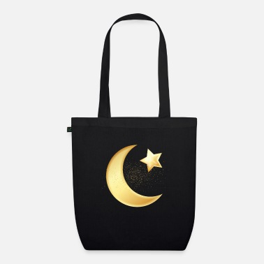 Arabien Star and Moon Hilal Muslim Islam Allah Mosque Gift - Økologisk mulepose