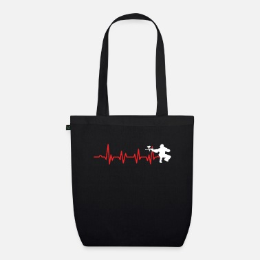 Perfect Paintball Heartbeat Paintball Player Marker Gift - Organic Tote Bag
