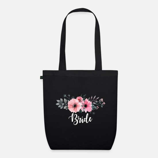 Bride Bags & Backpacks - Bride. Brides Gifts. Hen Party. Bachelorette Party - Organic Tote Bag black