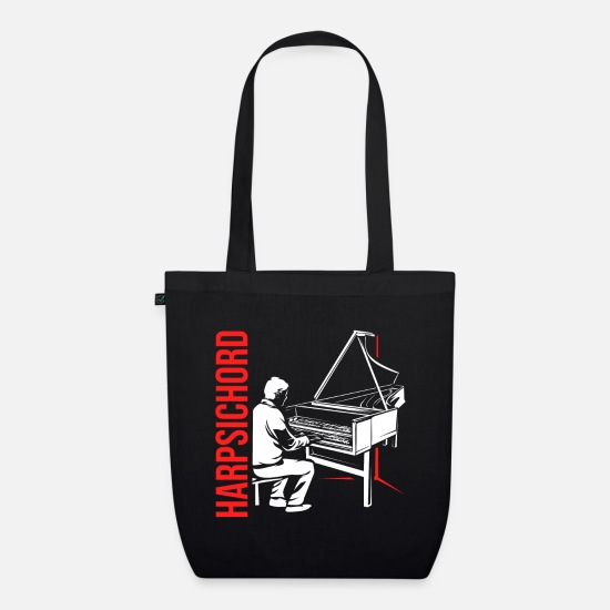 Gift Idea Bags & Backpacks - Harpsichord harpsichord - Organic Tote Bag black