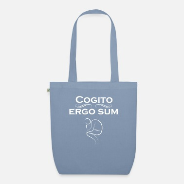 Ergo Latin for Philosophers - Cogito Ergo Sum - Organic Tote Bag
