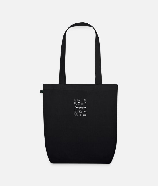 Guitar Player Bags & Backpacks - Producer White - Organic Tote Bag black