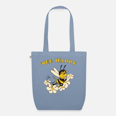 Bee Happy Cute Bee For Kids For Women For Men Be H - Organic Tote Bag