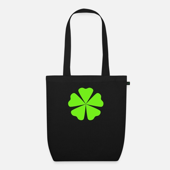 Symbol  Bags & Backpacks - Symbol shamrock symbols lucky tooth - Organic Tote Bag black