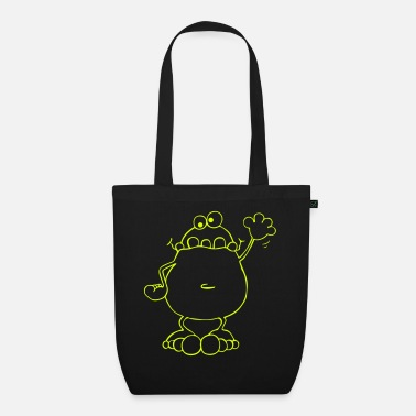 Frog Funny Frog - Frogs - Organic Tote Bag