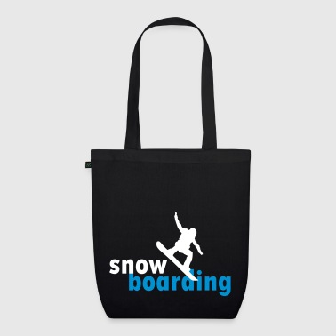 snowboarding snowboarder - EarthPositive Tote Bag