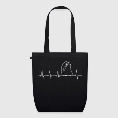 Wedding - bride and groom - heartbeat - EarthPositive Tote Bag