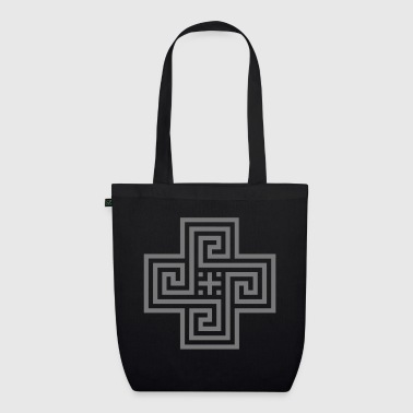 Meander-Kreuz / meander cross (1c) - EarthPositive Tote Bag