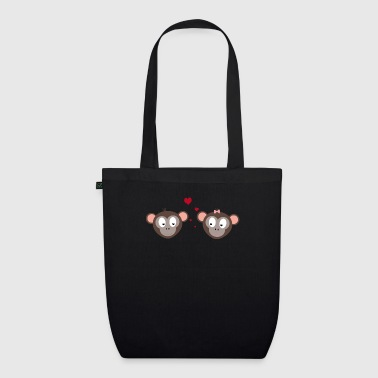 couple of apes - EarthPositive Tote Bag