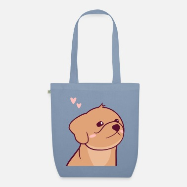 Cute Puppy - Charlie the Plush - Organic Tote Bag