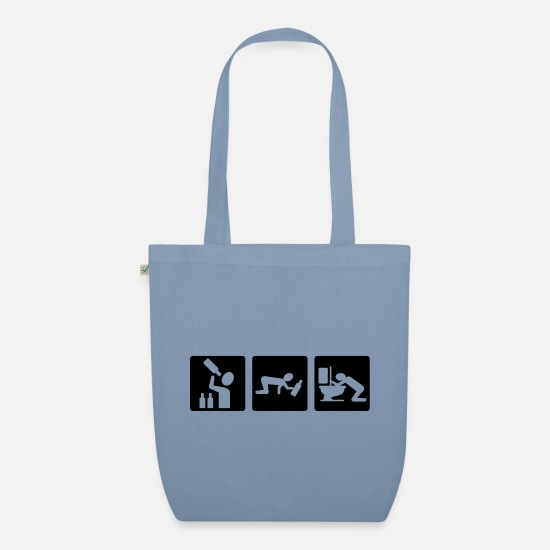 Cool Bags & Backpacks - Alcohol - Organic Tote Bag steel blue
