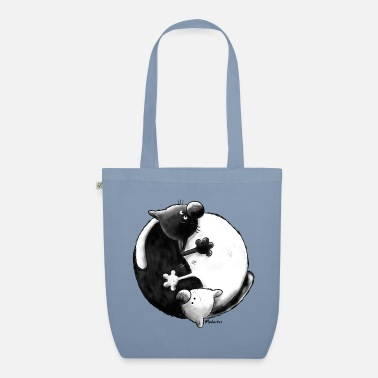 Yang Black and White - Yin Yang - Chats - Sac en tissu bio