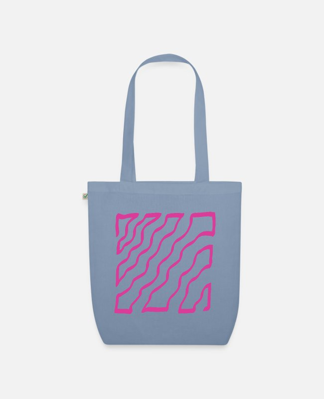 Design Bags & Backpacks - pink - Organic Tote Bag steel blue