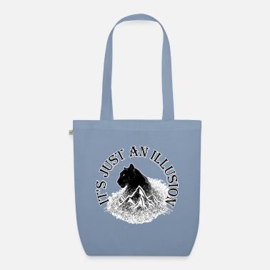 Himalaya Black Panther. It's just an illusion. - Organic Tote Bag